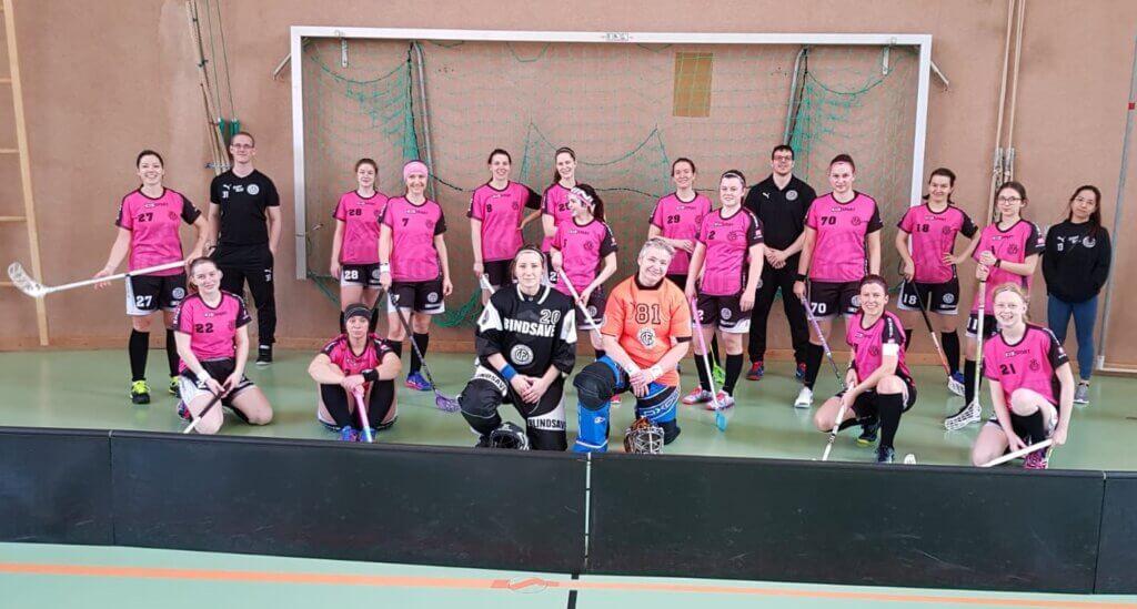 Damen Team beim 10:5 Sieg gegen die Dragons